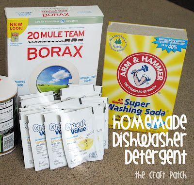 Diy Dishwasher Detergent Borax Arm Hammer Washing Soda