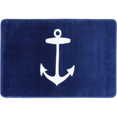 Nautical Memory Foam Washable Bath Mat, Nautical Bathroom Rugs