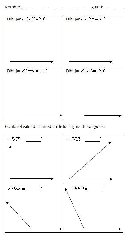 Imagen Relacionada Medicion De Angulos Medidas De Evaluacion