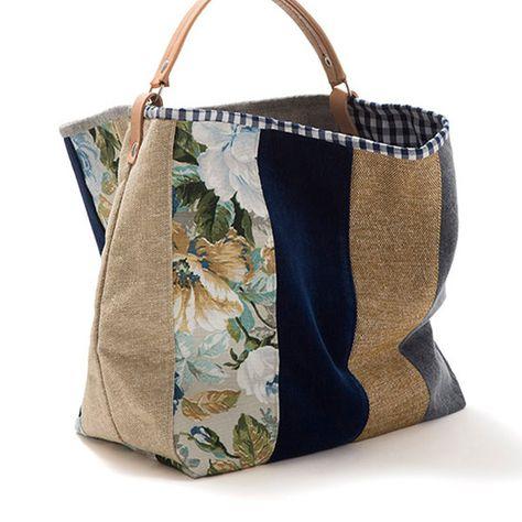Large bucket bag Pennyroyal Canvas bag от AWAYOFLIFEhandmade