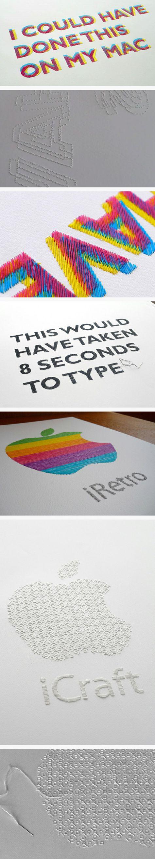 Demain, je me mets à la broderie... pour lamour de la typographie !