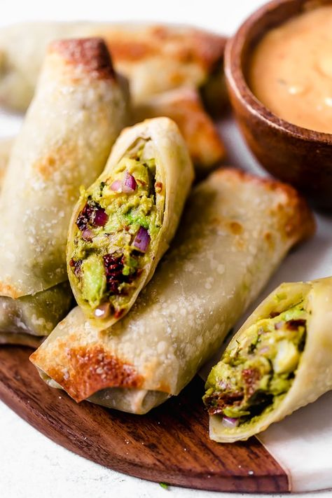 Crispy Avocado Egg Rolls (Air Fryer or Oven) - Skinnytaste