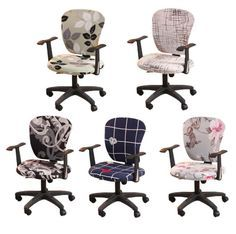 This Decorative Computer Office Chair Cover is made from soft, comfortable and wrinkle-resistant fabric that will protect your new seat from spills and stains. It does not slip or slide around plus it is removable and reusable. This will cover the tear, rips, and tattered edges of your plain old chairs. Its elastic edge holds the cover securely in its place. Get it today!