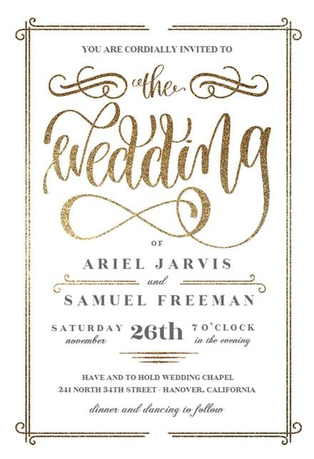 The Wedding Wedding Invitation Template Free Greetings Island