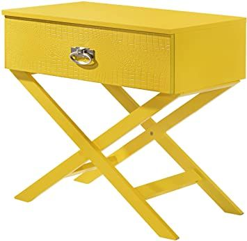 Glory Furniture Xavier Yellow Nightstand 25 Quot H X 27 Quot W X 16 Quot D In 2020 Yellow Nightstand Nightstand Furniture