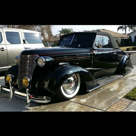 We love them rare and on the floor! #1938 #chevy #convertible #lowridermagazine