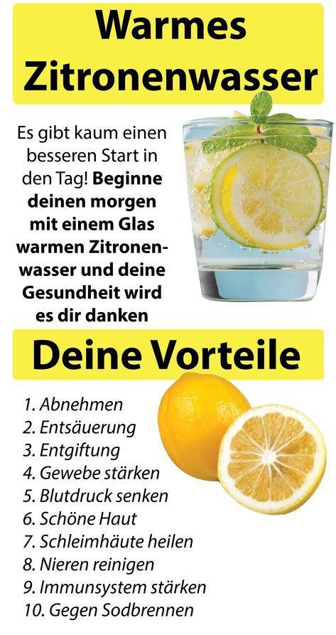Zitrone kochte auf nüchternen Magen zur Gewichtsreduktion