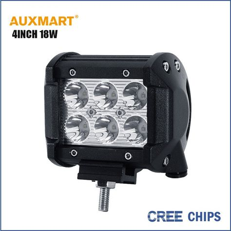 Auxmart Cree Chips 4inch 18w Spot Beam Led Work Light Bar Offroad