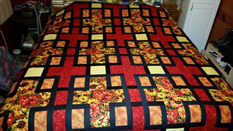 King size quilt by QuiltsbyCathi on Etsy   Handmade Items for your ... 7c2f138ab64c