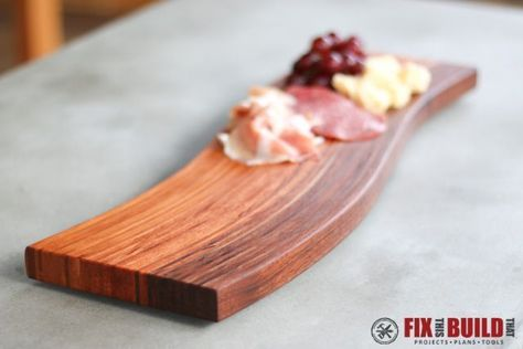 Learn how to make a DIY Curved Cutting Board using the wood bent lamination. This woodworking technique is easier than it looks!