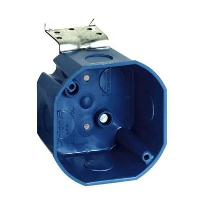 Carlon 4 In New Work Octagon Ceiling Electrical Box With L Bracket Case Of 8 A615del Metal Electrical Box L Brackets Conduit Box