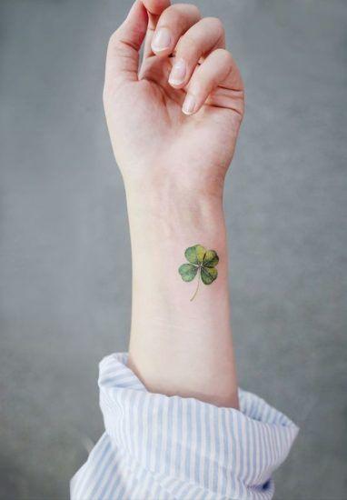 Tatuajes De Trebol De Cuatro Hojas Para Atraer La Buena Suerte In