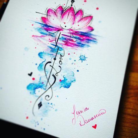 Watercolor tattoo - Ver esta foto do Instagram de @jessicadamasceno.art • 1,182 curtidas... - TattooViral.com | Your Number One source for daily Tattoo designs, Ideas & Inspiration