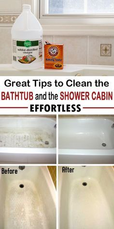 Great Tips To Clean The Bathtub And The Shower Cabin Effortless