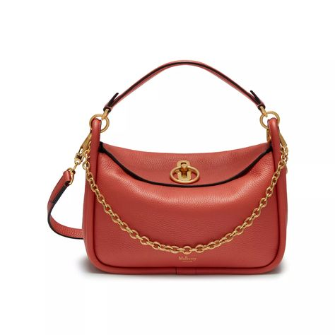 a1be522cf026 Shop the Small Leighton in Coral Rose Small Classic Grain on Mulberry.com.  The new Small Leighton bag celebrates soft and supple leather  ...