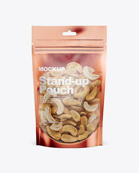Download Glossy Transparent Stand Up Pouch W Cashew Nuts Mockup Front View In Pouch Mockups On Yellow Images Object Mockups Mockup Free Psd Free Mockup Free Psd Mockups Templates