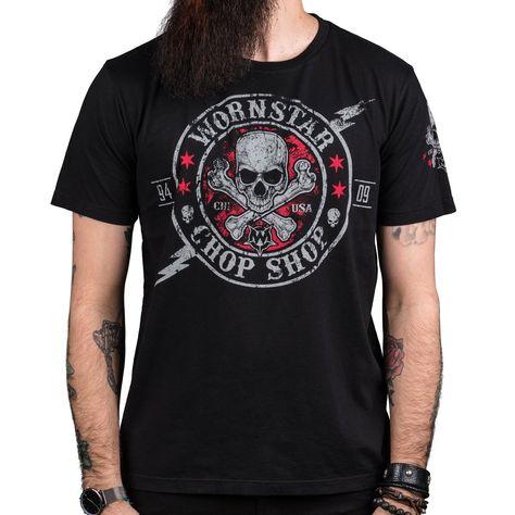 05259df0a84c pánske tričko s predným aj zadným potlačou. Vyrobené v USA Zloženie  100%  bavlna. Značka  WORNSTAR. Farba  čierna. Orientačné rozmery v cm (OBVOD je  2x ...