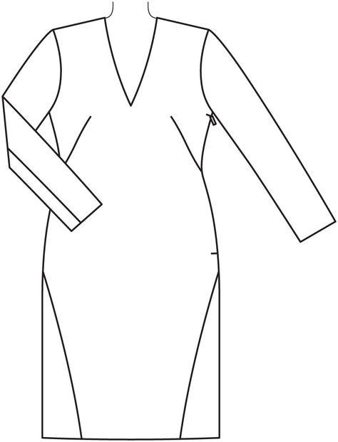 c809c285d67 Платье и жакет - выкройка № 4 из журнала 1 2015 Burda. Винтаж ...