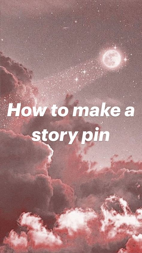 How to make a story pin