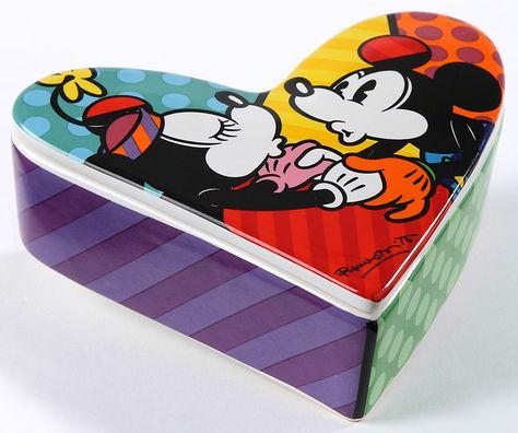 Disney By Britto Mickey & Minnie Love Lidded Box - 1750 points