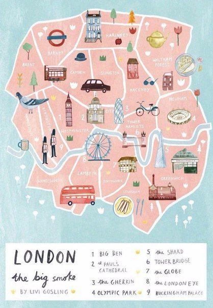 Karttajuliste Image By Hanna Mari Mikkonen On London In 2020