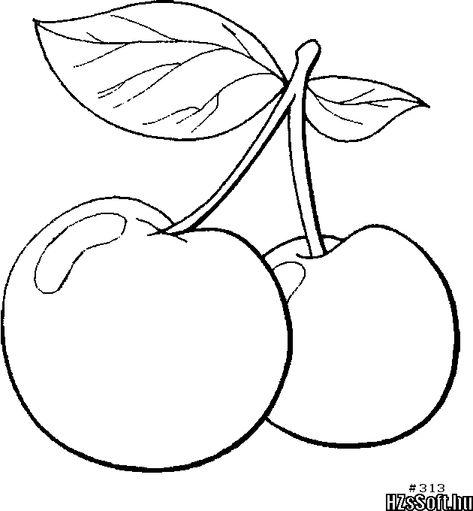 Картинки вишни для срисовки, картинки смешные