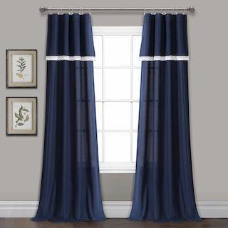Lush Decor 2 Pack Rosalie Window Curtains Kohls In 2020 Lace