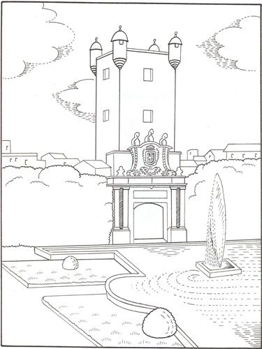 La Puerta De Tierra En Cadiz Coloring Pages Art Coloring Books
