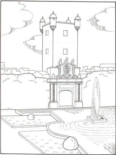 La Puerta De Tierra En Cadiz Coloring Pages Art Journal Coloring Books