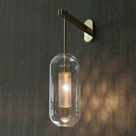 Italie Design Mur Scone Luminaire Noir Or Chambre Lampe De Chevet