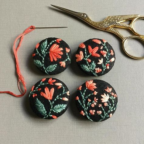 felt Set of four #embroidery #new...