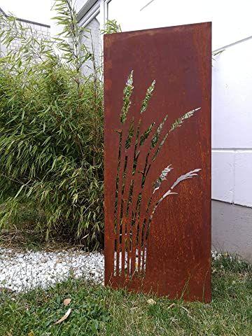 Amazon De Zen Man Garten Sichtschutz Aus Metall Rost Gartenzaun Gartendeko Edelrost Sichtschutzwand 150 50cm 101549 Sichtschutzwande Edelrost Gartenzaun
