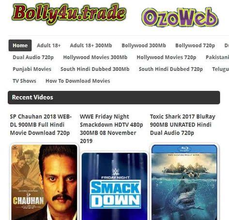 Bolly4u Download Bollywood Hollywood Latest Movies 2020