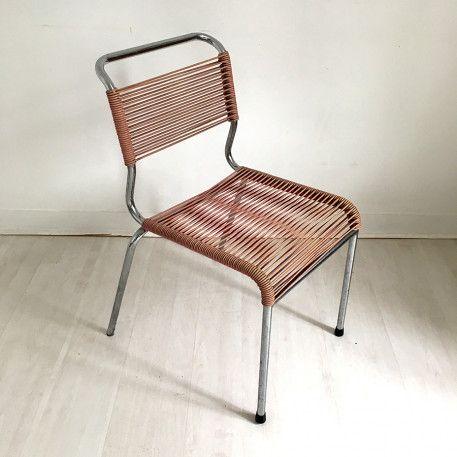 Chaise Scoubidou Vintage Chair Chaise Scoubidou Plastic Vintagefurniture Vintage 60s Chaise Scoubidou Scoubidou Chaise