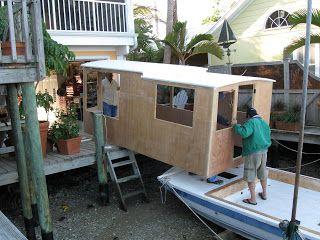 houseboat homemade houseboat homemade - Cabin Home Built Houseboat Plans