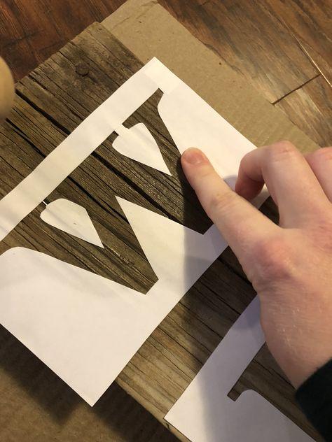 Easy DIY Stencil Wood Sign