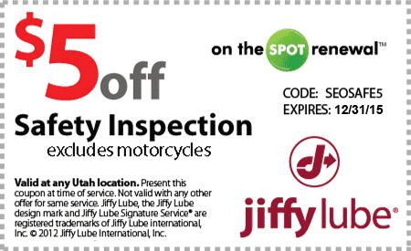 coupons for jiffy lube safety and emissions