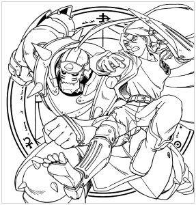 Fullmetal Alchemist Coloring Pages Coloring Pages Fullmetal Alchemist Anime Inspired
