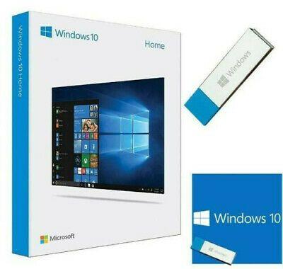 Windows 10 Home Full Retail Box Version 32 64 Bit Usb 3 0 New Open Box In 2020 Windows 10 Microsoft Windows Windows