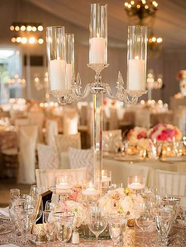 36 Tall 4 Arm Premium Crystal Glass Candle Holder Tall Wedding Centerpieces Candelabra Wedding Wedding Centerpieces