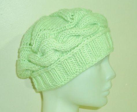 aba3690156e03 Hand Knit Hat Womens Hat Winter Hat Skull Hat Skull Knit Hat in ...