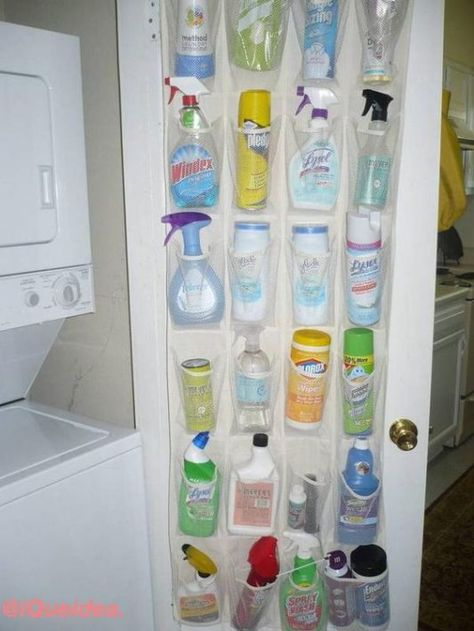Repurpose a Shoe Organizer to Store Cleaning Supplies - Top 58 Most Creative Hom., Repurpose a Shoe Organizer to Store Cleaning Supplies - Top 58 Most Creative Hom.