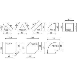 office tables- Bürotische Edv-Eckplatte Pendo Rondo 2 Choice of color Optionenbla-ulm.
