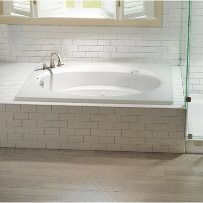 Jacuzzi Signature 72 X 42 Drop In Whirlpool Bathtub Color Oyster Drain Location Left Additional Features Whirpool Bathtub With Heater Drop In Bathtub Whirlpool Bathtub Bathtub Remodel