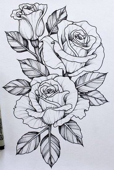 Should Maybe Add This Piece To My Skull N Rose Tattoo | Tattoo Designs |  Pinterest | Rose Tattoos, Flower Tattoo Designs And Flower Tattoos