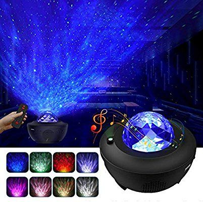 Lbell Night Light Projector 2 In 1 Ocean Wave Projector Star Projector W Led Nebula Cloud For Baby K Night Light Projector Starry Night Light Star Night Light