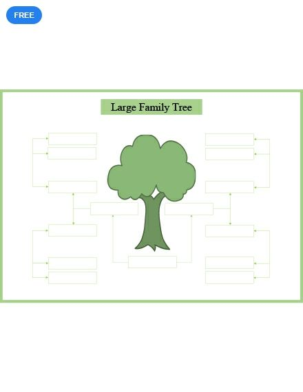 Free Large Family Tree Template Pdf Word Doc Apple Mac Pages Family Tree Examples Family Tree With Pictures Family Tree Printable