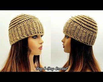 Crochet Even Berry Stitch Baby Hat Pattern Etsy In 2021 Crochet Tutorial Baby Hat Patterns Crochet Hats