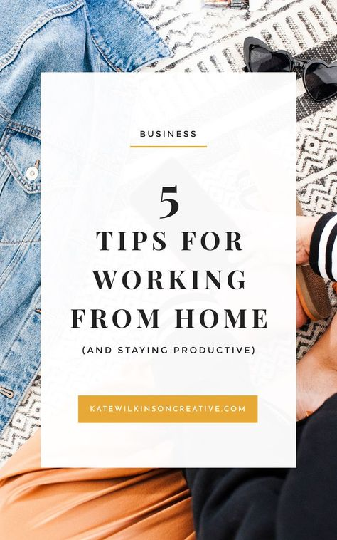 How to Stay Productive When Working From Home | With the freedom of a flexible schedule, so comes the challenge of staying productive and focussed.   So here's my guide to keeping the productivity levels high when you're working from home. Read more on katewilkinsoncreative.com | #bloggingtips #freelancingtips #workfromhome #bosslady