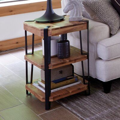 Union Rustic Tindal End Table Furniture Alaterre Furniture Rustic End Tables